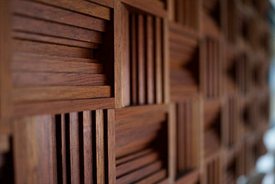 wooden sound wall