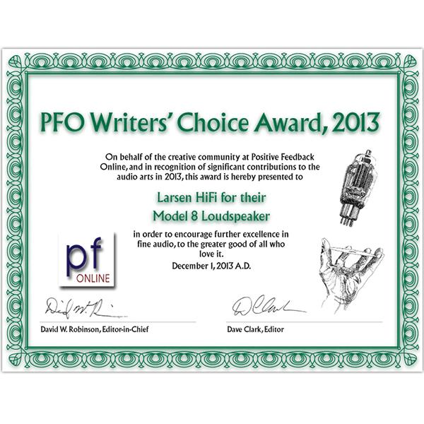 PFO Writers' Choice Award 2013