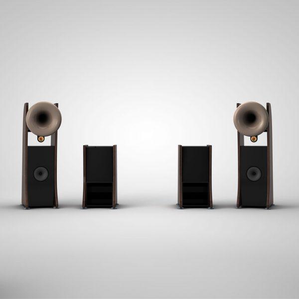 Cessaro Horn Acoustics Beta 0.5 II 4-Way Horn Loaded Floor Standing Loudspeaker