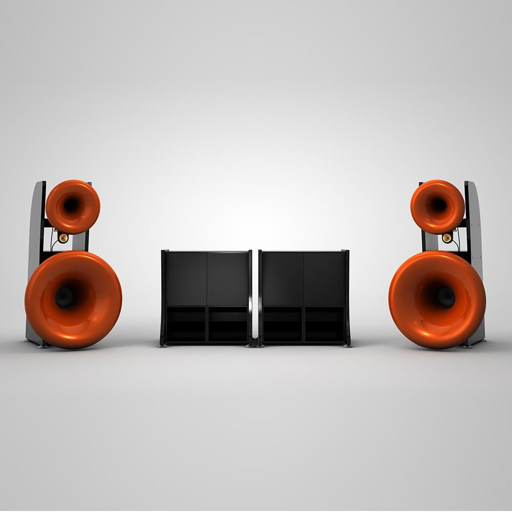 Cessaro Horn Acoustics Beta II B4 4-Way Horn Loaded Floor Standing Loudspeaker