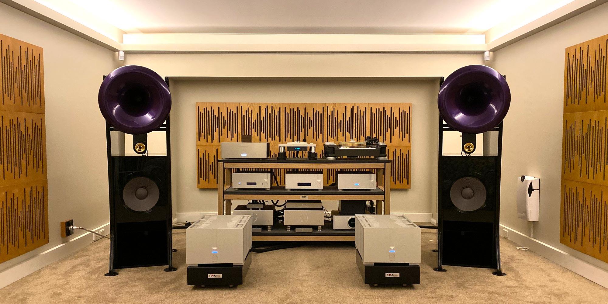 Cream Silver Purple Listening Room