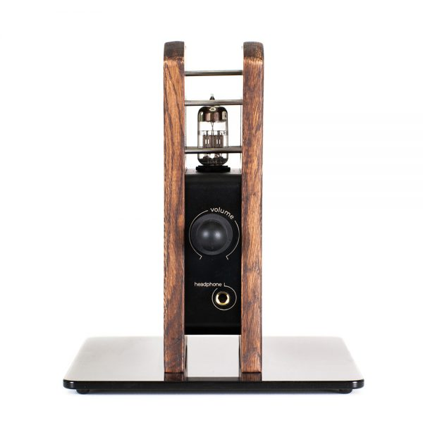 Kennerton Audio Atlas Headphone Amplifier and Oak Stand