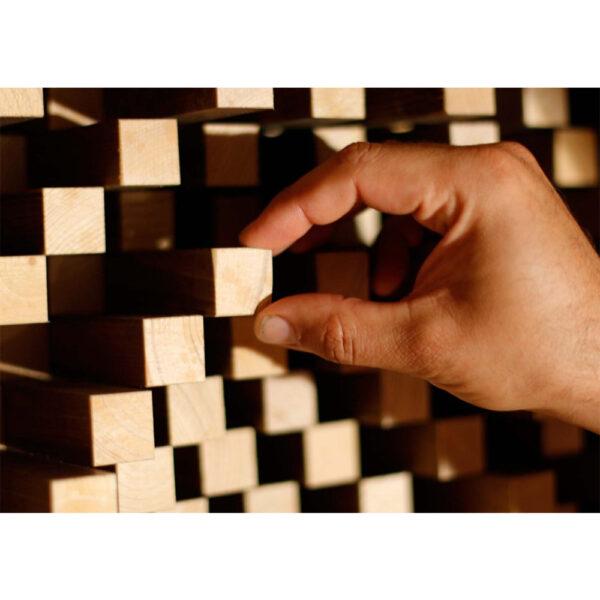 RD Acoustic Quadratic Diffuser Wooden QRD67 Pattern