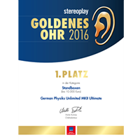 Stereoplay - Golden Ear Award 1st Place 2016