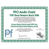 PFO Audio Oasis 2016