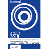 Stereoplay 2nd place Award 2015