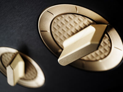 Aesthetix rose gold dial detail